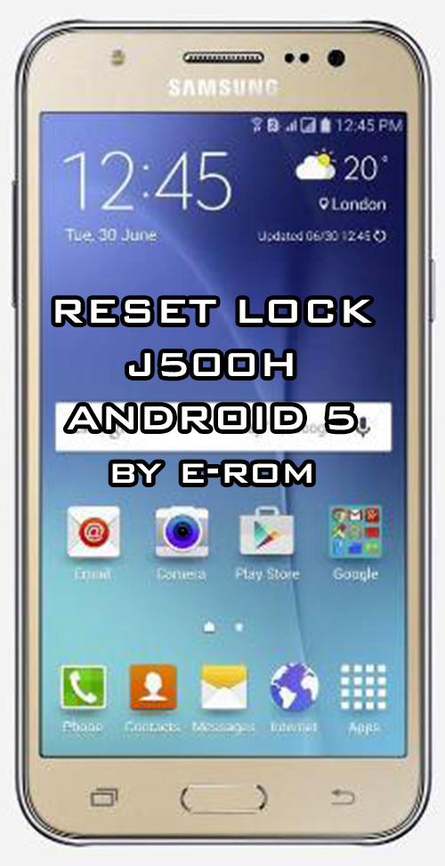 Samsung : فایل حذف رمز j500H اندروید 5.1.1