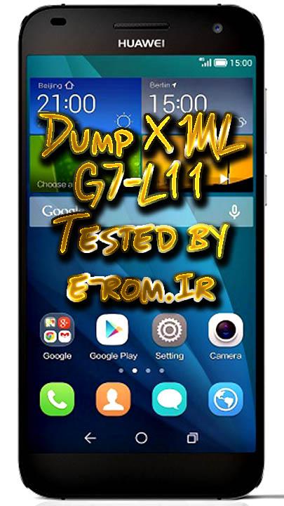 Huawei : دامپ XML هواوی G7-L11  دو سیم